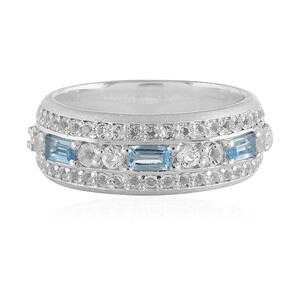 Swiss Blue Topaz Silver Ring 3407KK
