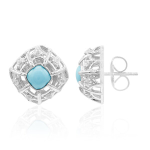 Turquoise Silver Earrings (Dallas Prince Designs) 3567JR