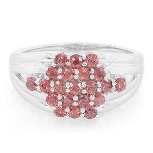 Sunset Ruby Silver Ring 3588UQ