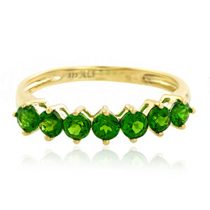 9K Russian Diopside Gold Ring 3653BM