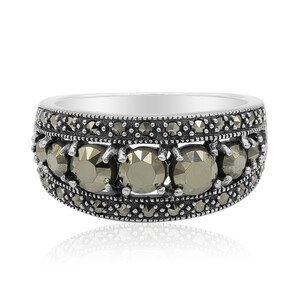Marcasite Silver Ring 3684QI