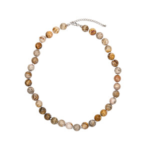 Petrified Coral Silver Necklace 3740CT