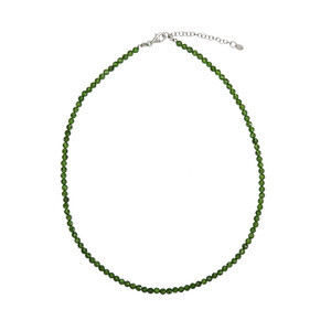 Russian Diopside Silver Necklace 4018HX