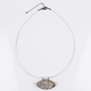 Petrified Coral Silver Necklace 4067PZ