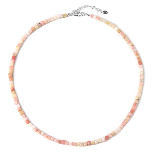 Pink Opal Silver Necklace 4127WD