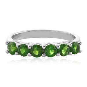 Russian Diopside Silver Ring 4127YP