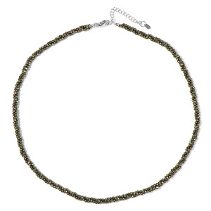 Pyrite Silver Necklace 4141WY