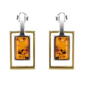 Baltic Amber Silver Earrings (dagen) 4156TS