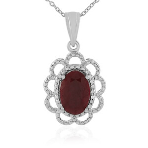 Ruby Silver Necklace 4192UC