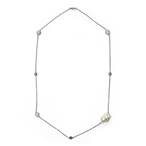 Freshwater pearl Silver Necklace (TPC) 4303LG