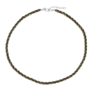 Pyrite Silver Necklace 4312OH