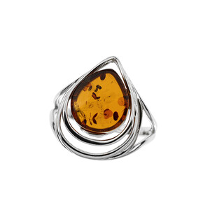Baltic Amber Silver Ring (dagen) 4324EP