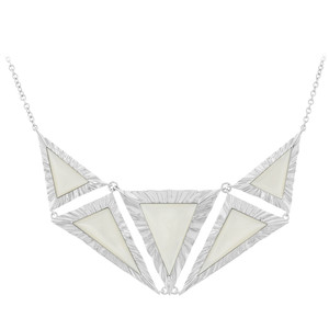 Mother of Pearl Silver Necklace 4467QS