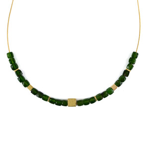 Russian Diopside Silver Necklace 4488CZ