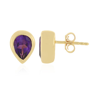 Zambian Amethyst Silver Earrings 4563QV