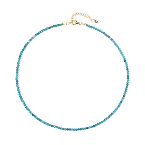 Neon Blue Apatite Silver Necklace 4696DV