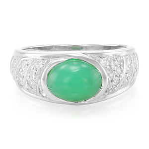 Imperial Chrysoprase Silver Ring 4746NU