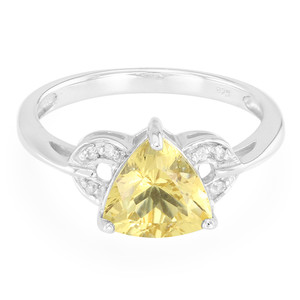 Yellow Beryl Silver Ring 4756WR