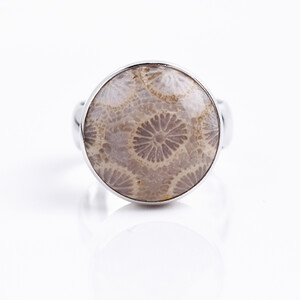 Petrified Coral Silver Ring 4762KM