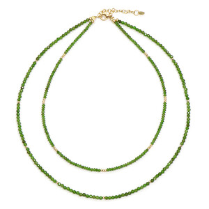 Russian Diopside Silver Necklace 4794DL