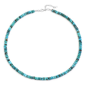 Arizona Turquoise Silver Necklace 4796PB
