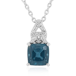 Teal Kyanite Silver Necklace 4841HC
