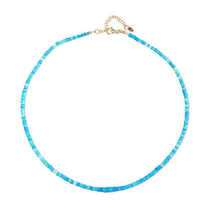 Neon Blue Opal Silver Necklace 4876SY