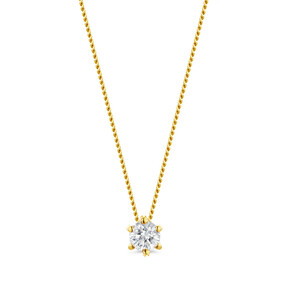 14K SI Diamond Gold Necklace 4974IN