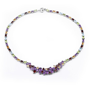 Zambian Amethyst Silver Necklace 4984NV