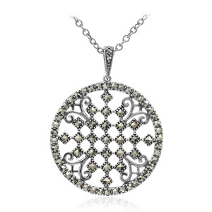 Marcasite Silver Necklace 5018SW