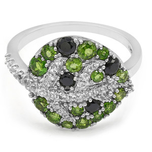 Russian Diopside Silver Ring (Cavill) 5052WV