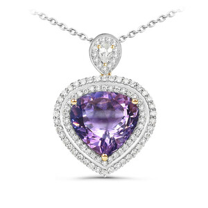 Amethyst Silver Necklace 5102MX