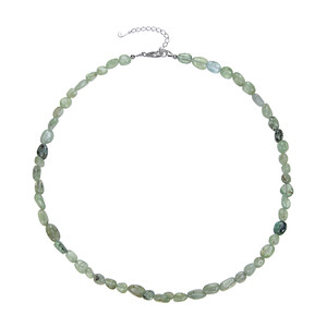 Green Kyanite Silver Necklace 5129LB
