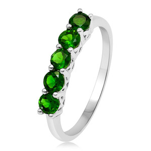 Russian Diopside Silver Ring 5199LO