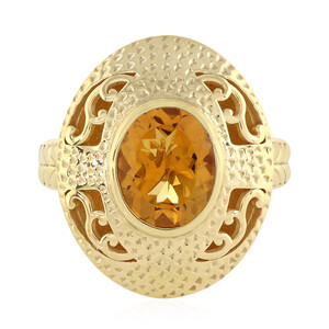 Citrine Silver Ring (Memories by Vincent) 5261AC