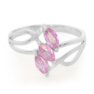 Pink Sapphire Silver Ring 5277XZ