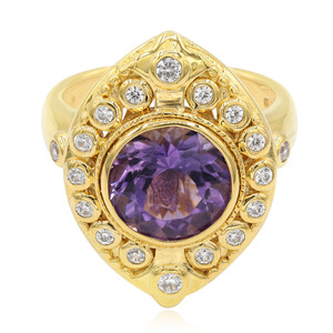 Zambian Amethyst Silver Ring (Memories by Vincent) 5369HZ