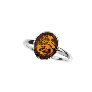 Baltic Amber Silver Ring (dagen) 5385NC