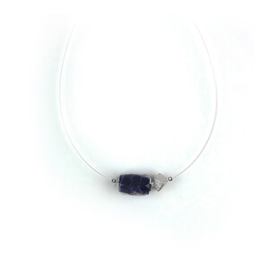 Sodalite Silver Necklace 5564AW