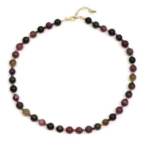 Fancy Tourmaline Silver Necklace 5616RI