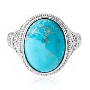 Kingman Blue Mojave Turquoise Silver Ring 5627VR