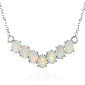 Welo Opal Silver Necklace 5768BB