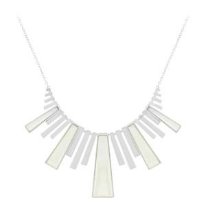 Mother of Pearl Silver Necklace 5784GO