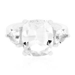 White Quartz Silver Ring 5793NT