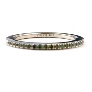 Grüner Diamant-Silberring 5851WE