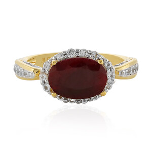 Ruby Silver Ring 6052IS