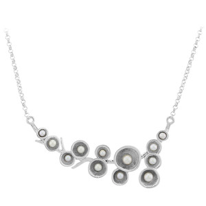 Freshwater pearl Silver Necklace 6273LV