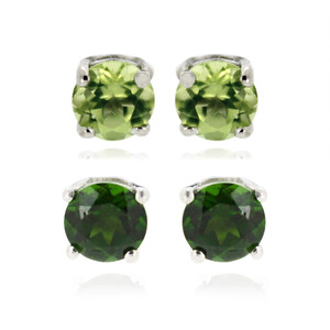Peridot Silver Earrings 6292YM