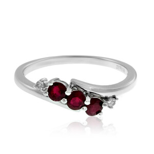 Mozambique Ruby Silver Ring 6293HW