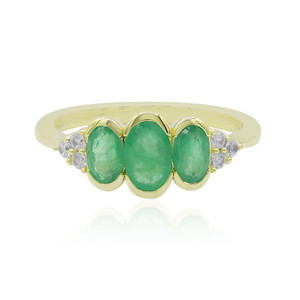 9K Emerald Gold Ring 6557EH